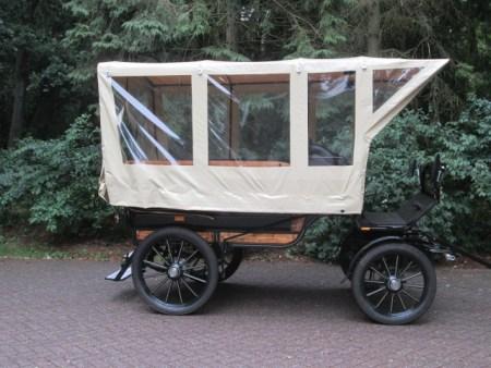 2 Arco koetsen marathonwagen Voskamp Hall Zijkant huifkar met dekzeil