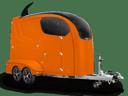 maximus Paardentrailer van Humbaur in het oranje