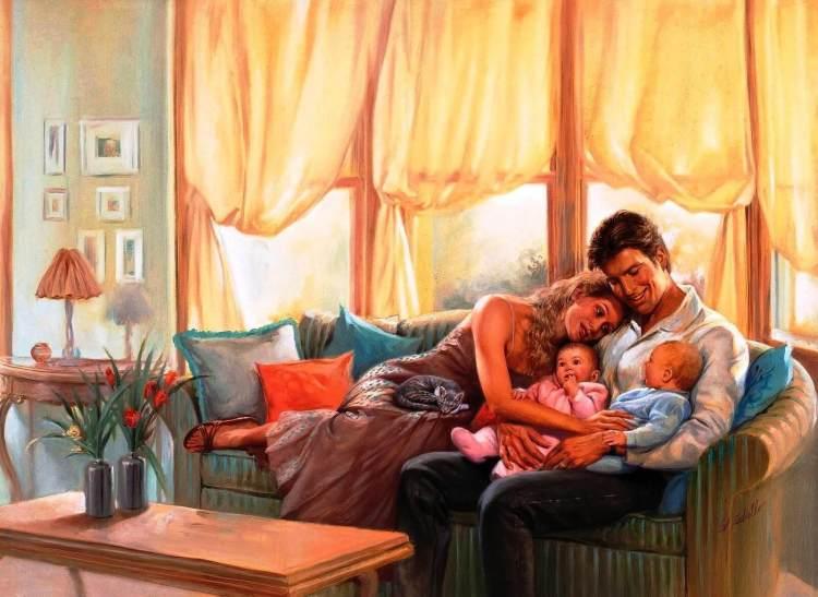 Семейное воспитание, картина