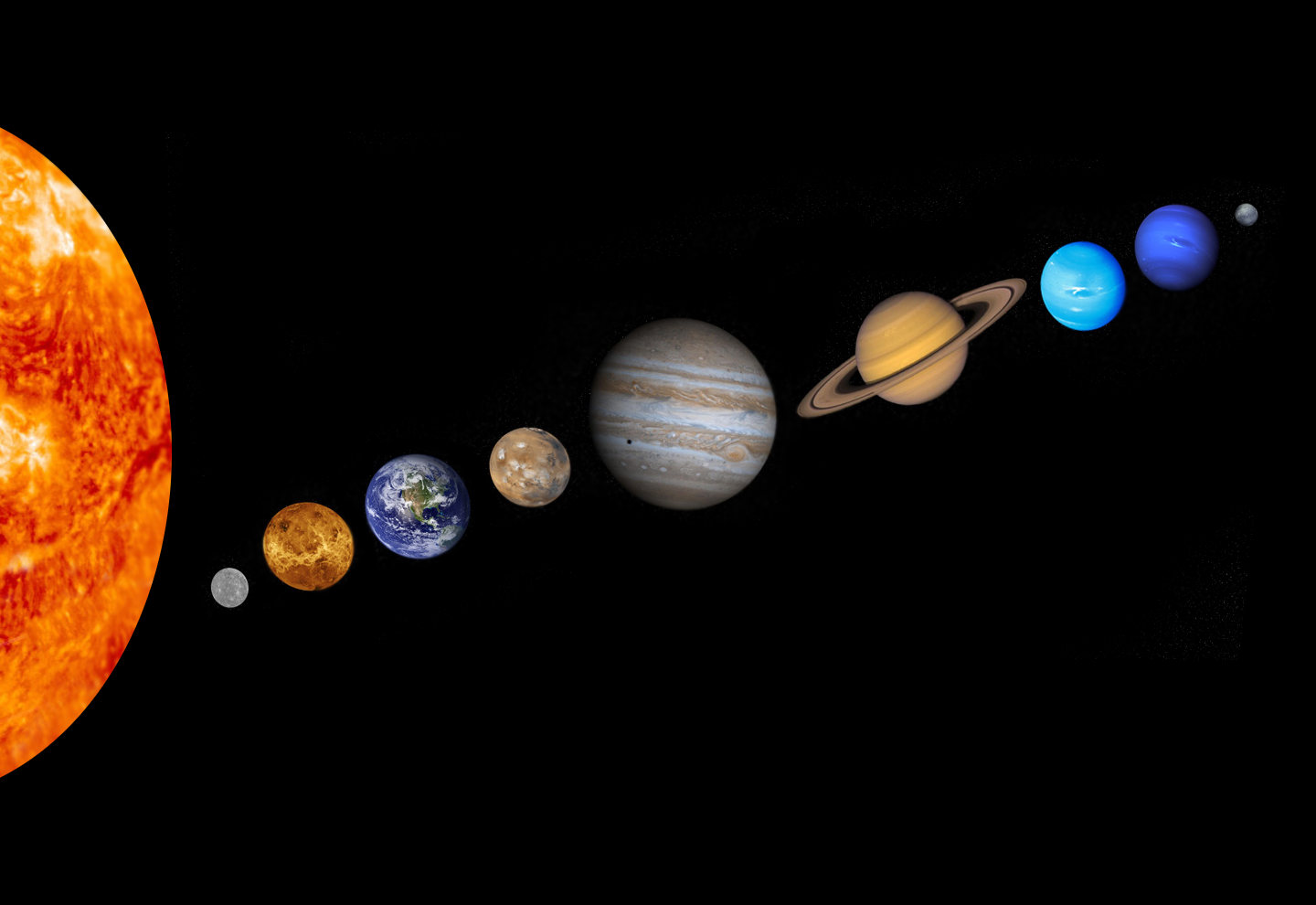 solar system images - 1085×746