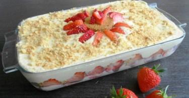 Tiramisu fraises chocolat blanc, on est complètement addict !