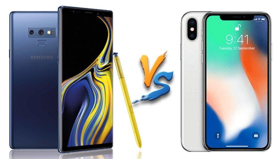 Samsung Galaxy Note vs iPhone X