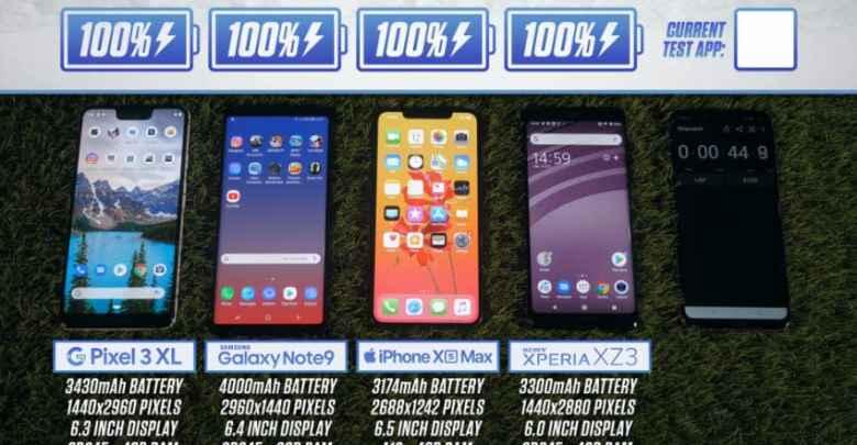 iphone Xs vs Galaxy Note 9 vs Google Pixel 3 XL vs Xperia ZX3