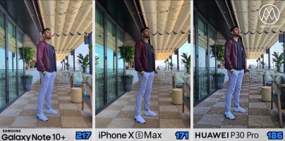 Samsung Galaxy Note 10 plus vs iPhone Xs vs Huawei P30 Pro_2