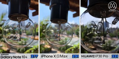 Samsung Galaxy Note 10 plus vs iPhone Xs vs Huawei P30 Pro_9_priblizenie