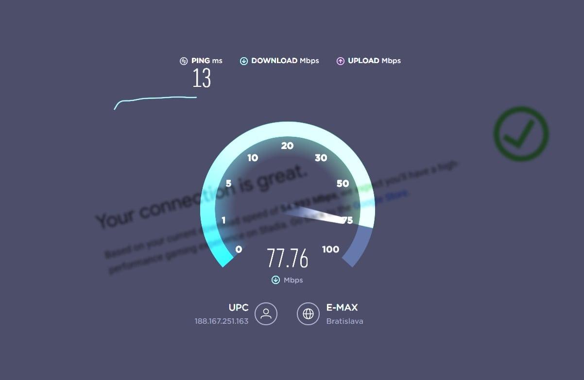 Test rychlosti internetu