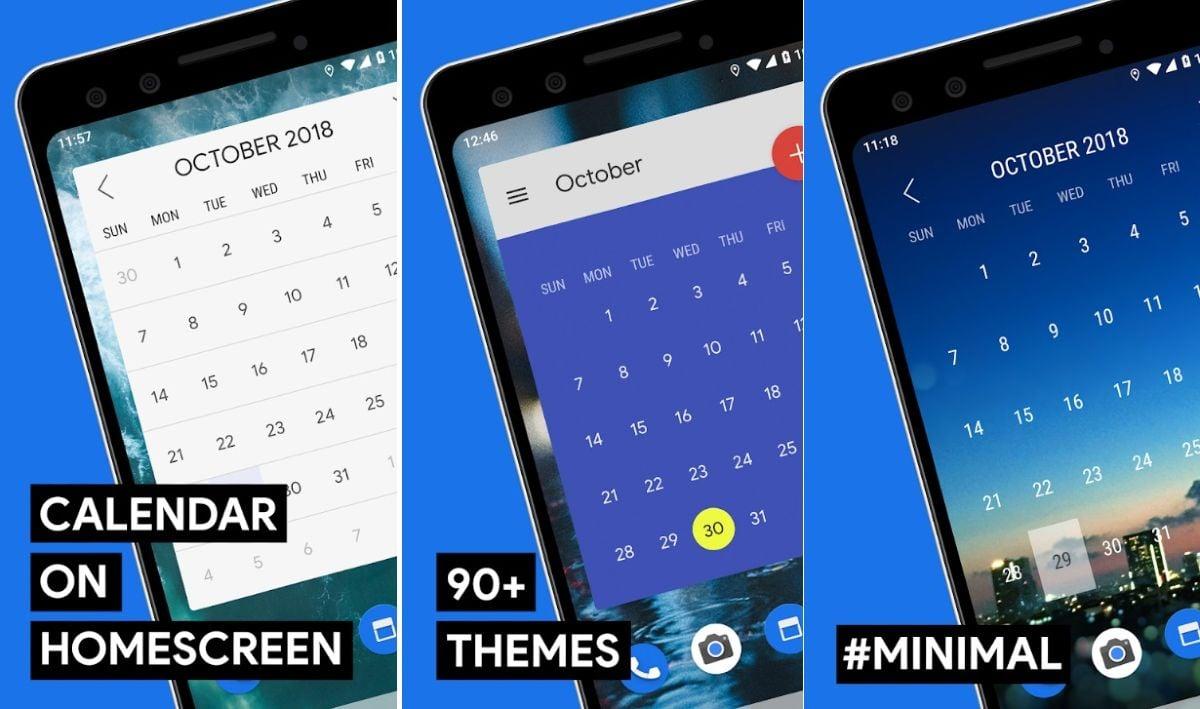 Calendar Widgets pre android