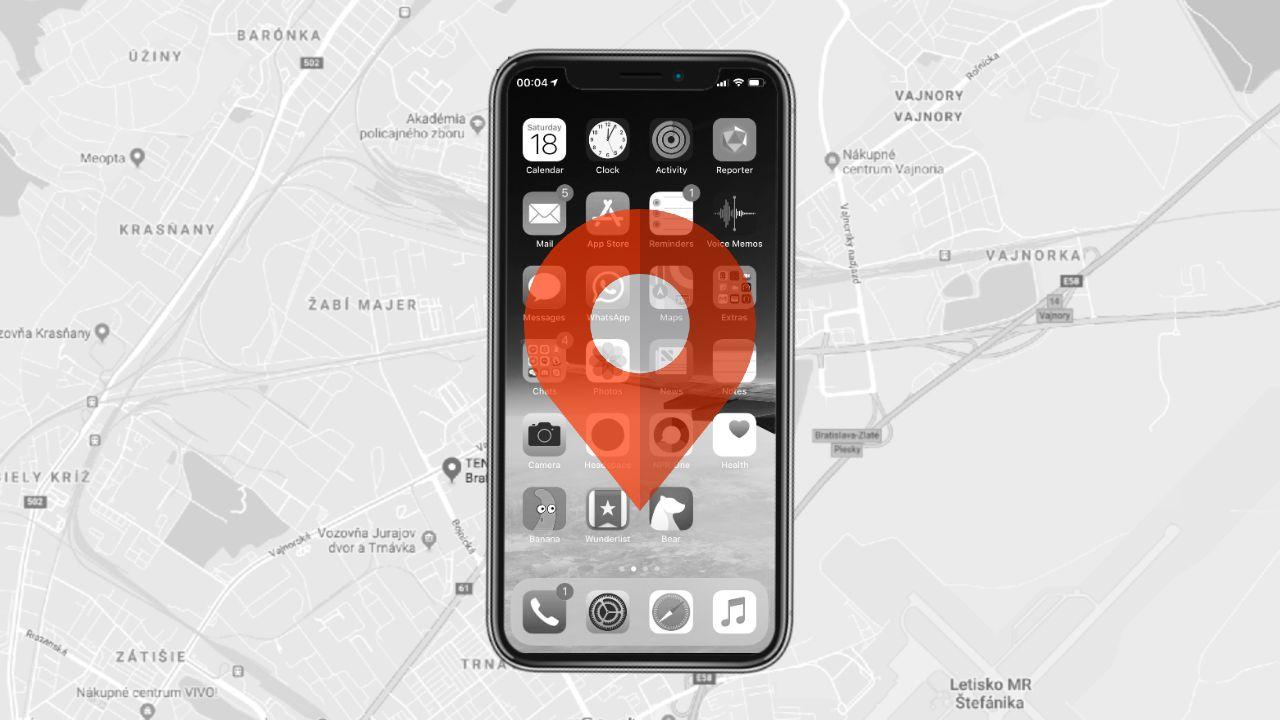 iPhone telefony sledovanie polohy