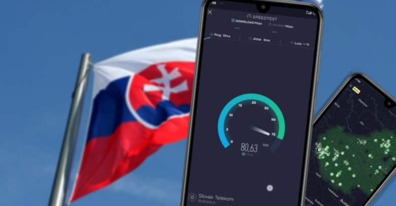 Rychlost internetu Slovensko
