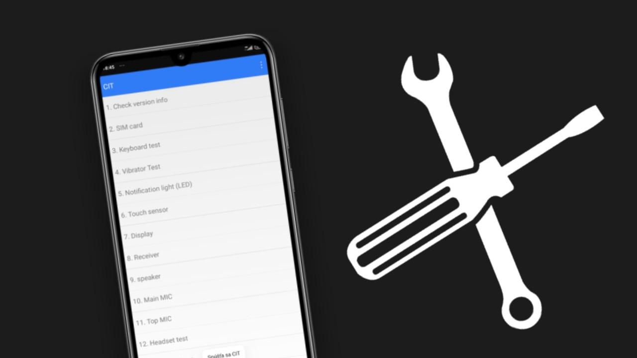 Servisne menu v Xiaomi a redmi telefonoch