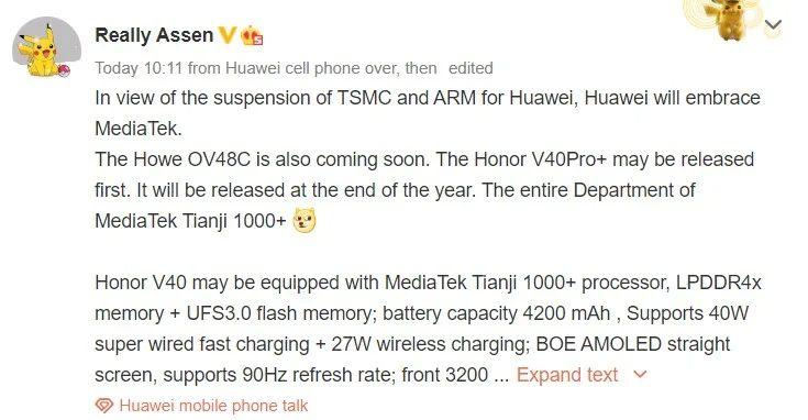 Honor-V40-series-specifikacie