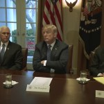 President Trump Receives a Briefing from Senior Military Leadership