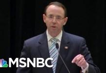 Rod Rosenstein Makes A Stand Against Donald Trump's Interlopers In Congress | Rachel Maddow | MSNBC