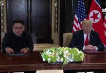 President Trump and North Korean Leader Kim Jong Un Signs a Declaration of Friendship