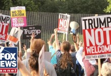 Thousands of anti-Trump protesters march on London
