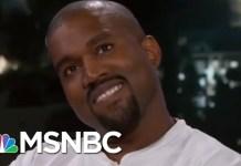 Kanye West Goes Silent On Jimmy Kimmel's President Donald Trump Question | Velshi & Ruhle | MSNBC