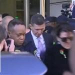 Flynn departs courthouse after judge delays sentencing