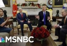 President Trump Threatens Shutdown In Meeting With Pelosi, Schumer | Andrea Mitchell | MSNBC