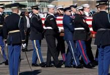 Live: George H.W. Bush's casket departs Joint Base Andrews