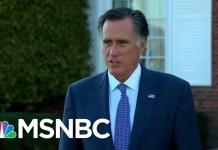 What President Donald Trump's Tepid Response To Mitt Romney Reveals   The Last Word   MSNBC