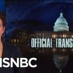 Republicans Slow To Staff Key Committee, Slowing Robert Mueller Help   Rachel Maddow   MSNBC