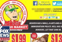 "Grocery store ad: ""Heaven has a wall"""