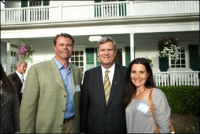 Hans Fastre, CEO and President Living Harvest Foods, Tom Vilsack, Secretary of Agriculture and Christina Volgyesi, Vote Hemp board member.