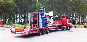 Votrans - Trekker met trailer dicht