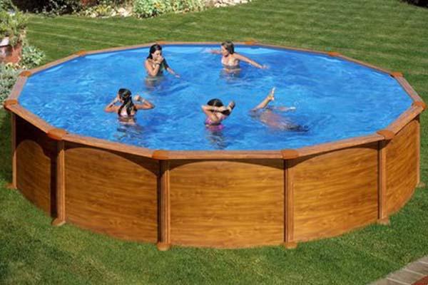 piscine acier aspect bois gre mauritius