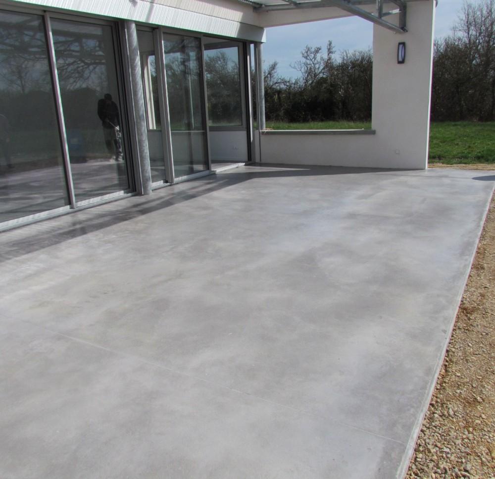 Resine Pour Terrasse Beton Revetement Terrasse Epaisseur 3 Cm