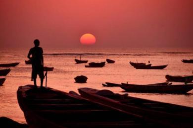 Lac et pyrogues du Senegal