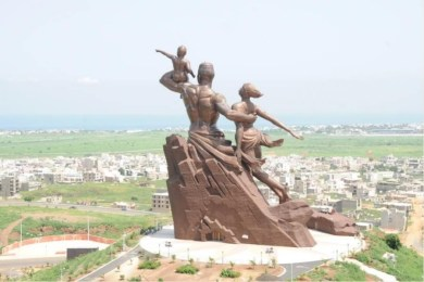 Impressionnant monument de la renaissance africaine