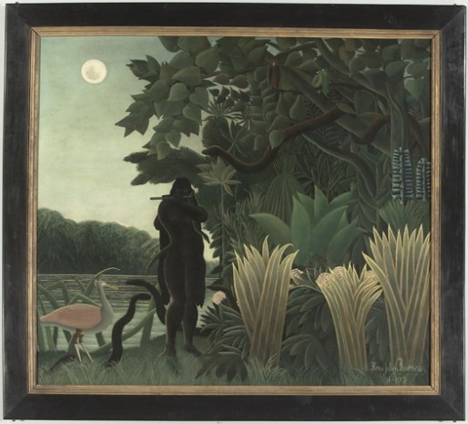 """""""The Snake Charmer"""" 1907 by Henri Rousseau. Most valuable in the collection."""