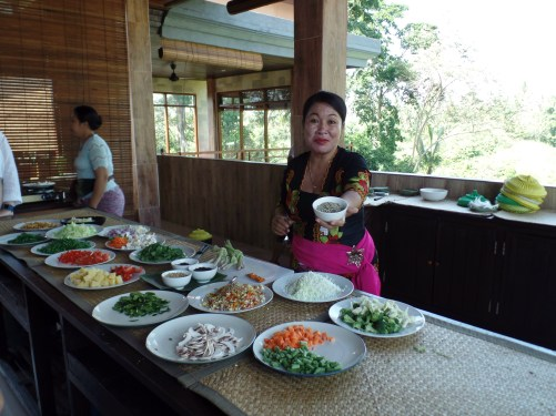 Paon Cooking Class Ubud Ingredients prepped