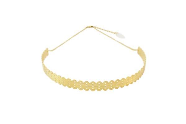 headband bijou de tete laiton doré or fin 24 carats