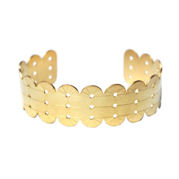 bracelet jonc art deco geometrique alma vous mademoiselle laiton dore or fin