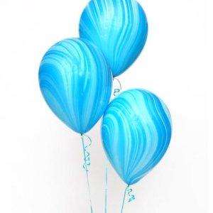 Супер АГАТ голубой-синий