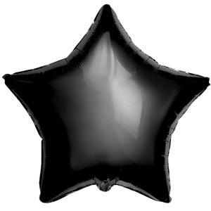 Фольгированные шары Звёзды пастель черный