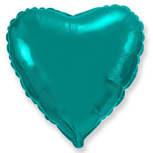 Фольгированное сердце металлик тиффани