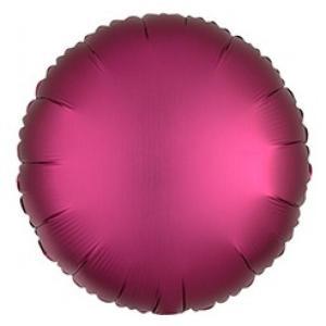 Фольгированные шары круги САТИН POMEGRANATE