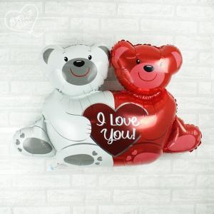 Фольгированные воздушные шары Любовь на двоих
