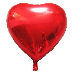 Фольгированный шар с гелием Сердце большое красное
