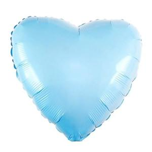 Сердце пастель голубой
