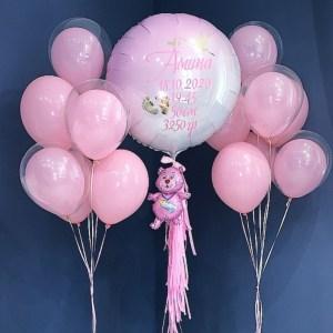 Комплект на выписку Розовый нежный