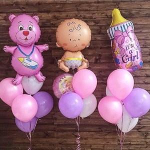 Комплект шаров на выписку Малышка