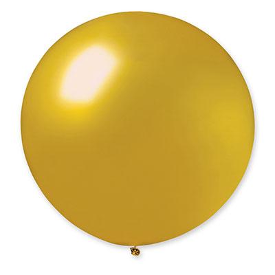 Шар латексный золотой металлик 70 см