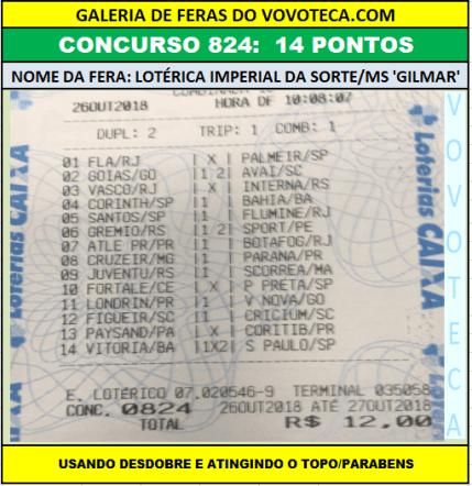 824 14p loteca ms