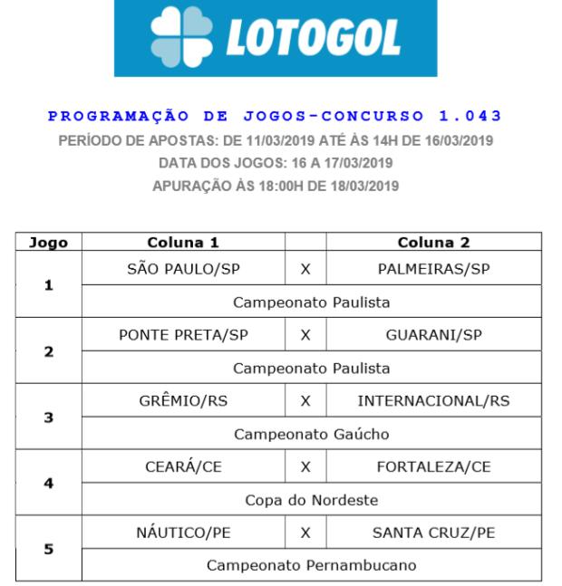 lotogol 1043 oficial