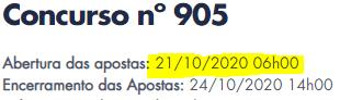 905 INFORMAÇÕES
