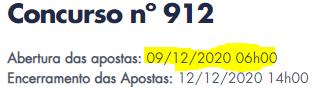 912 informações